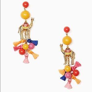 Kate Spade camel statement tassel  earrings